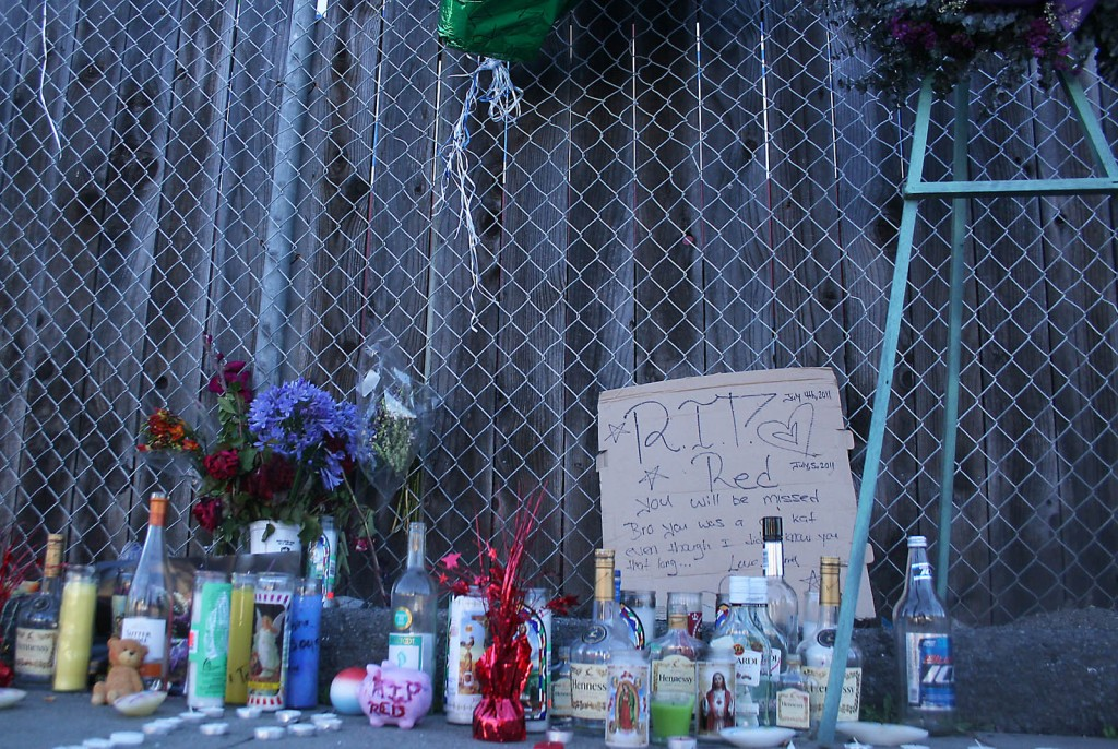 memorial for darrell duncan, who was killed in richmond july 3