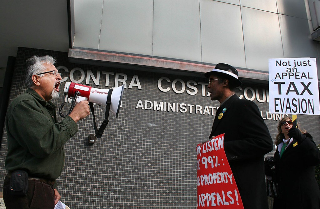 eduardo martinez and henry clark protest chevron