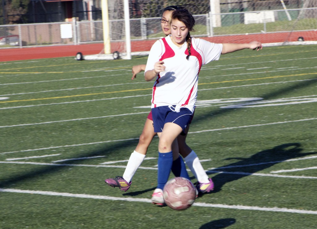 Crystal Ochoa fights for the ball
