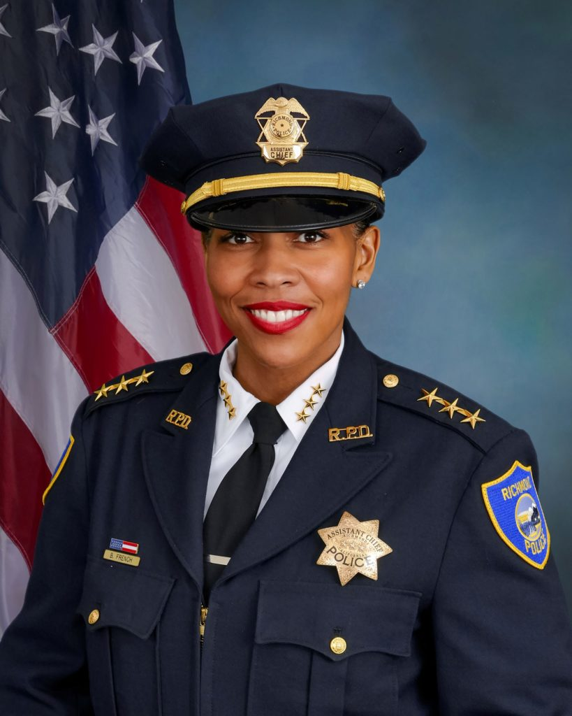 Richmond Chief of Police Bisa French was officially appointed in July 2020.